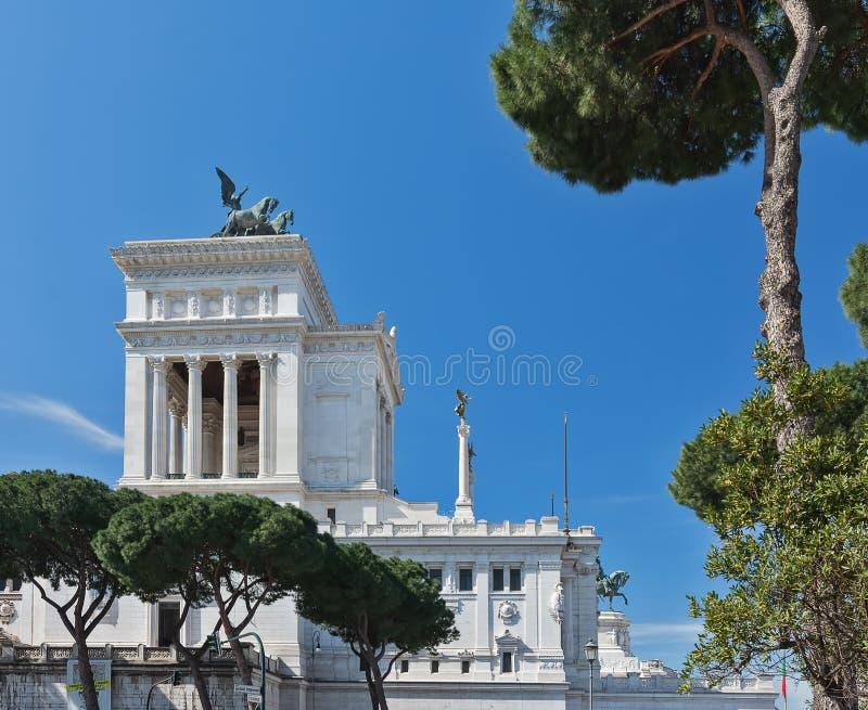 The Vittorio Emanuele II Monument also known as the Vittoriano, or Altare della Patria, built between the Piazza Venezia The. Venice Square and the Capitoline royalty free stock image