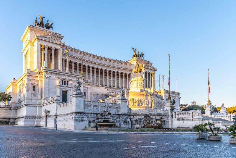 Vittorio Emanuele II monument- eller Altare della Patria, p? piazza Venezia, Rome, Italien arkivbild