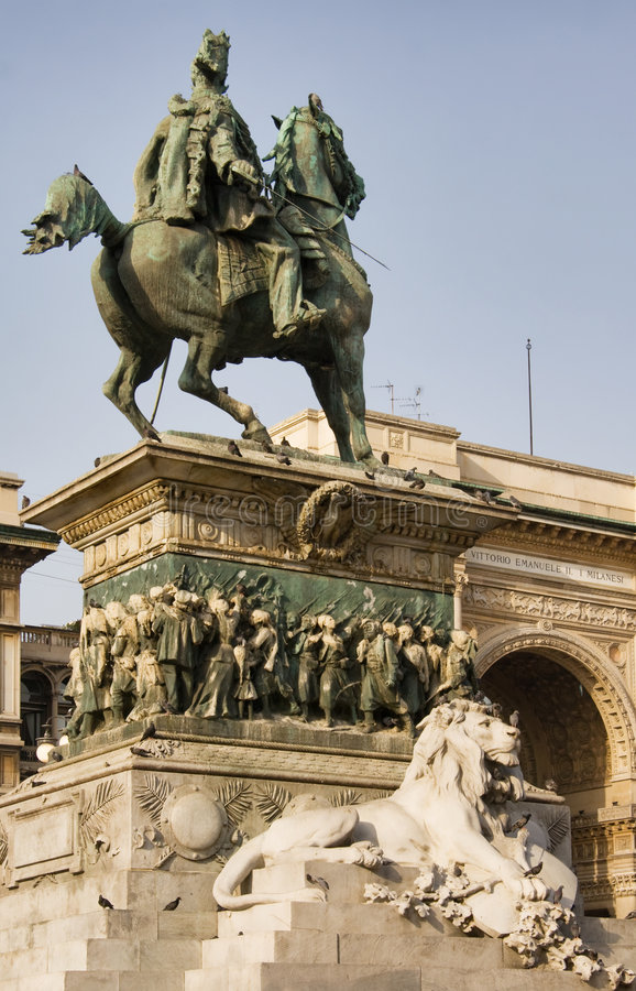 Vittorio Emanuele II Standbeeld royalty-vrije stock foto's