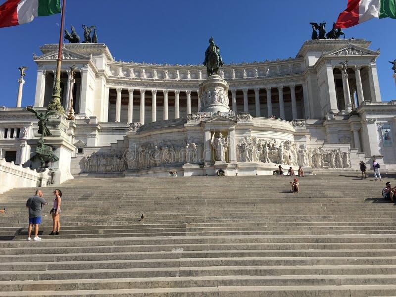 Vittorio Emanuele lll zabytek, Rzym Włochy obrazy royalty free