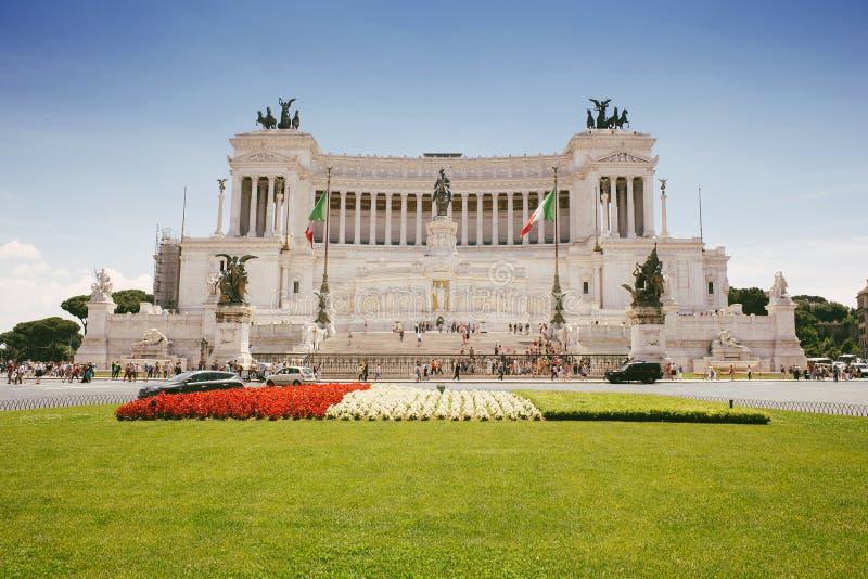 Vittorio Emanuele-Monument in der Stadt von Rom, Italien stockbild