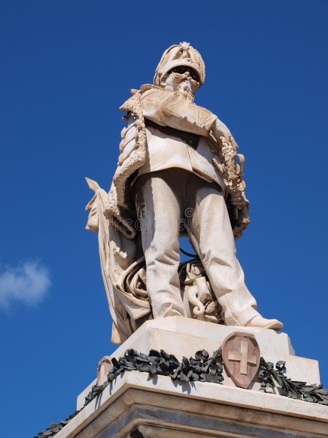 Vittorio Emanuele monument, Trapani, Sicilien, Italien arkivbilder