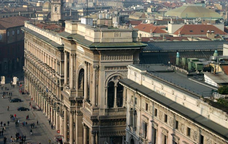Download Vittorio Galleria Ii Emanuele Стоковое Изображение - изображение насчитывающей колонки, город: 76169