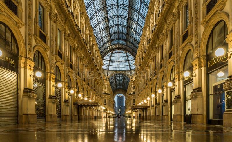 Vittorio Manuel del galleria del centro de ciudad de Milán fotografía de archivo libre de regalías