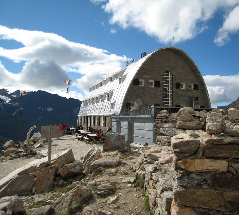 vittorio rifugio του Emanuele στοκ φωτογραφία