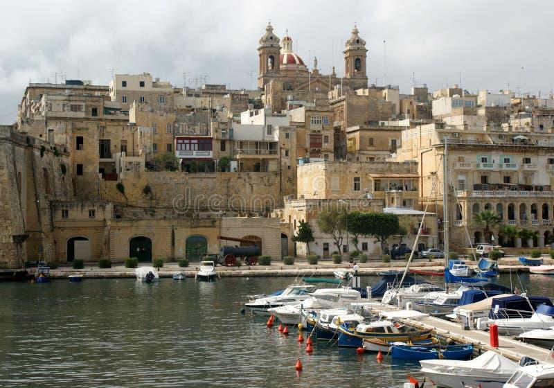 Vittoriosa en Malta fotos de archivo