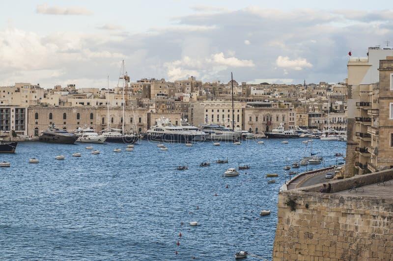 Download Vittoriosa Seafront As Seen From Senglea, Malta Stock Image - Image of scene, mediterranean: 39509965