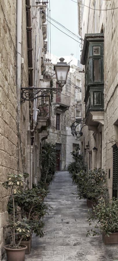 Vittoriosa-Straße lizenzfreie stockbilder