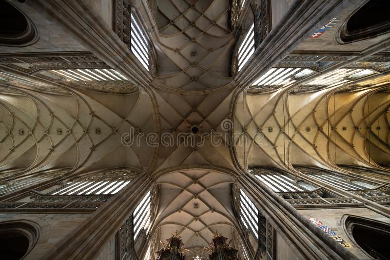 St Vitus Cathedral Majestic Interior royalty free stock photography