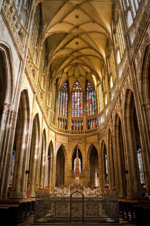 vitus st собора нутряное стоковое изображение rf