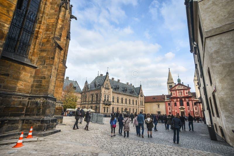 vitus st prague фото hdr собора замока стоковое фото rf