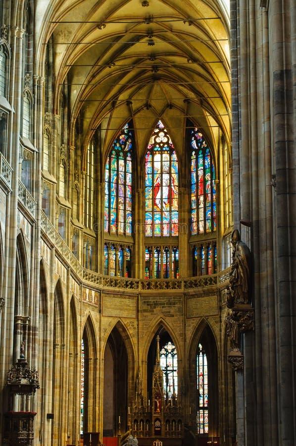 vitus st prague собора нутряное стоковая фотография rf