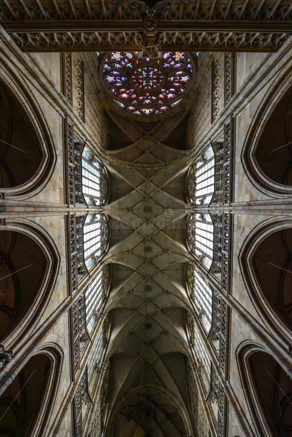 vitus st prague собора нутряное стоковая фотография