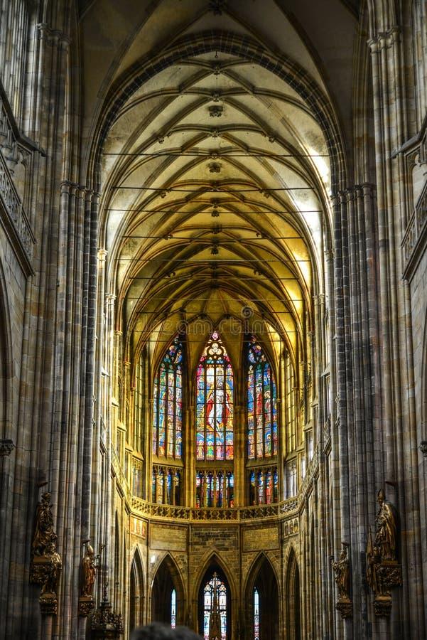 vitus st prague собора нутряное стоковые изображения