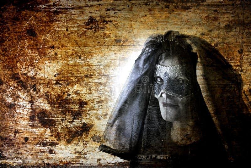 Viuda negra del fantasma foto de archivo