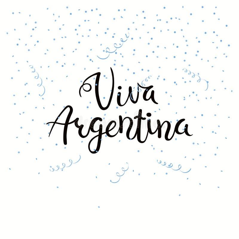 Viva Argentyna literowania wycena ilustracja wektor