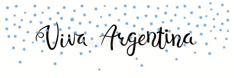 Viva Argentyna sztandar royalty ilustracja