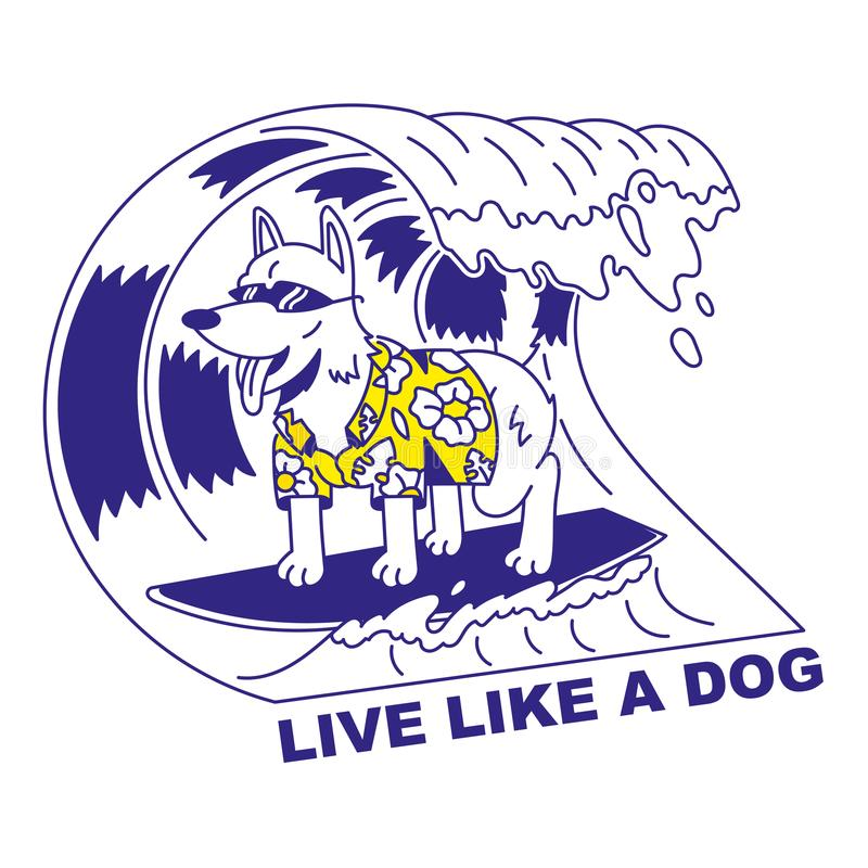 Viva come un cane illustrazione vettoriale