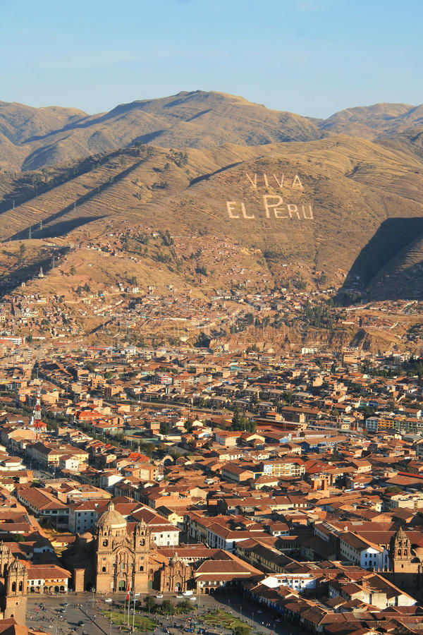 Viva El Peru, Cuzco fotografia royalty free