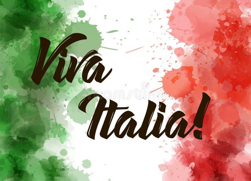 Viva Italia-achtergrond royalty-vrije illustratie