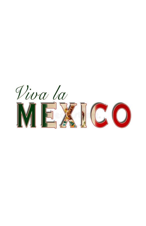 Viva la Mexico ilustração royalty free