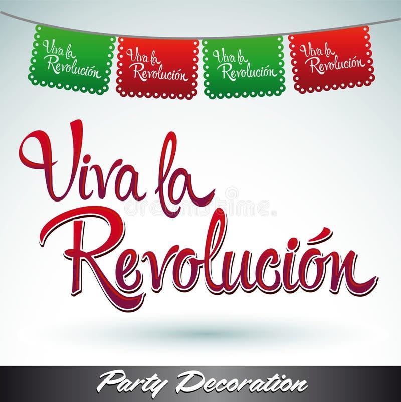 Viva-La revolucion - leben lang die Revolution lizenzfreie abbildung