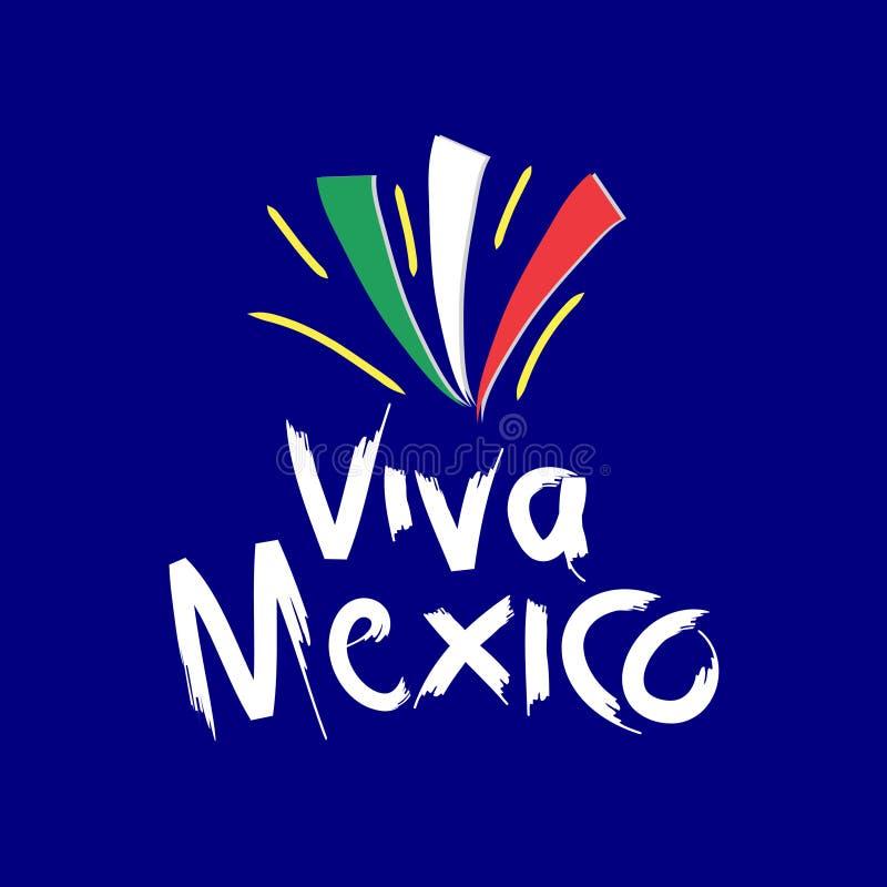 Viva Meksyk, ilustracja wektor