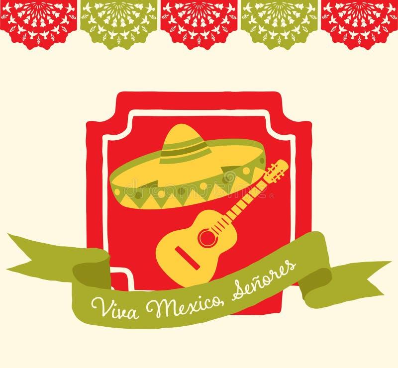 Viva Meksyk - kartka z pozdrowieniami royalty ilustracja