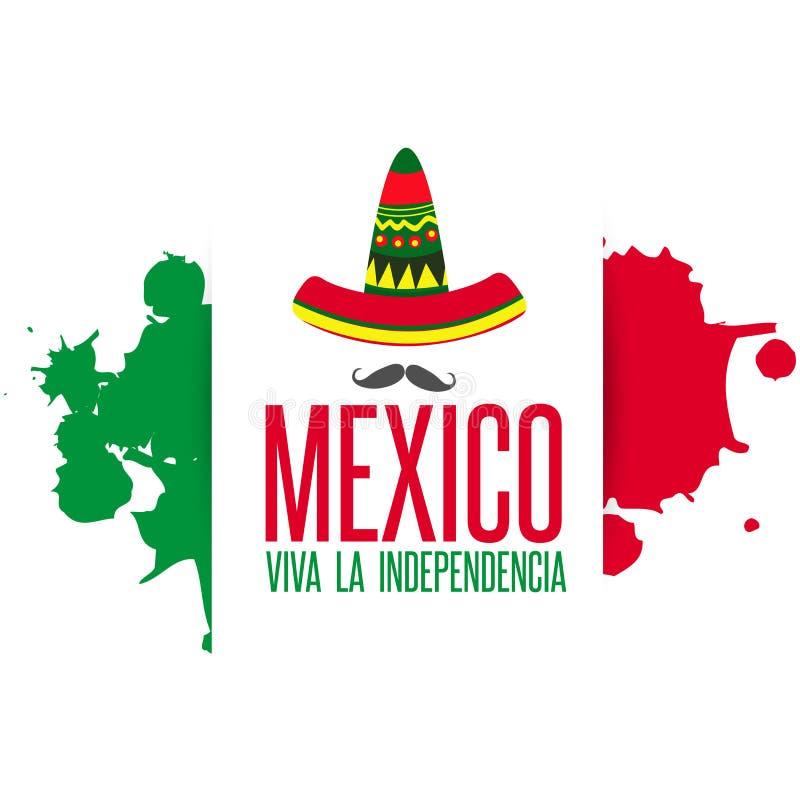 Viva Meksyk, tradycyjny meksykański zwrota wakacje ilustracja wektor