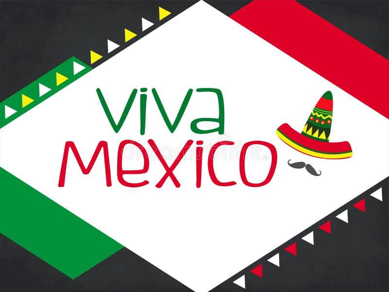Viva Meksyk, tradycyjny meksykański zwrota wakacje royalty ilustracja
