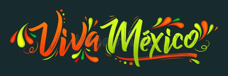 Viva Meksyk, tradycyjny meksykański zwrota wakacje ilustracji