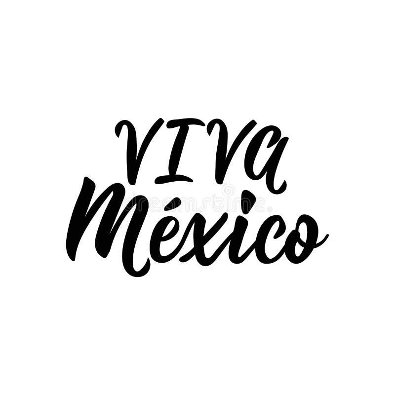 Viva Meksyk, tradycyjny meksykański zwrota wakacje, pisze list wektorową ilustrację royalty ilustracja