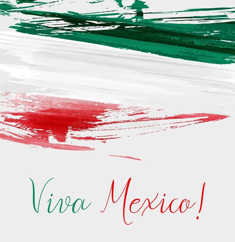 Viva Mexico-achtergrond vector illustratie
