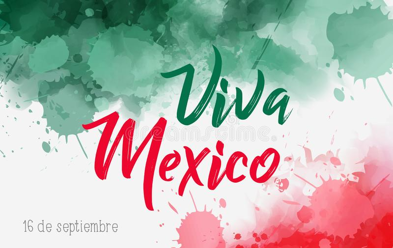 Viva Mexico-achtergrond stock illustratie