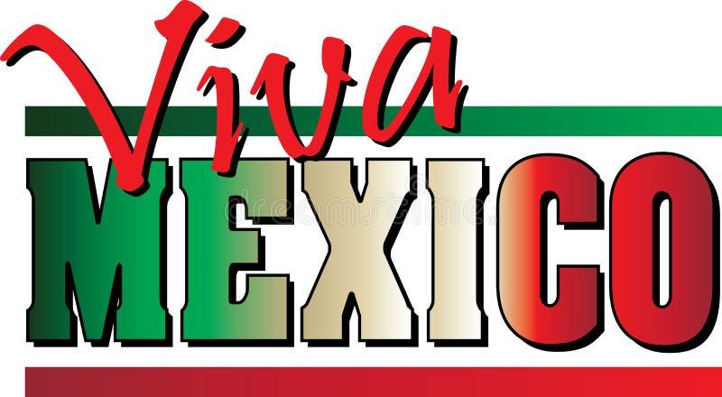 Viva Mexico ! Bannière illustration libre de droits