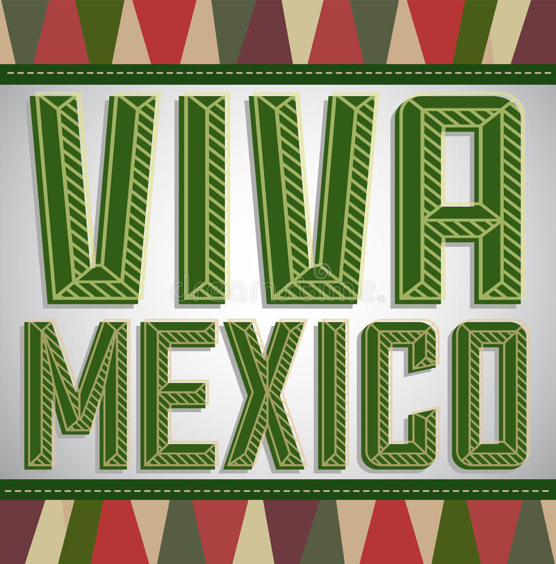Viva Mexico - festa messicana illustrazione di stock