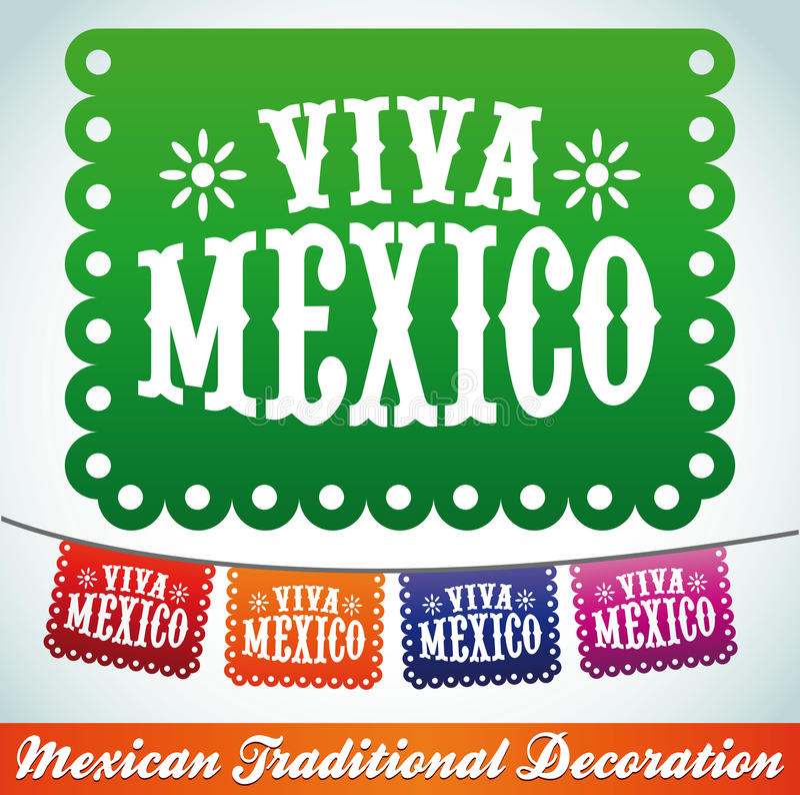 Viva Mexico - Mexicaanse vakantie royalty-vrije illustratie
