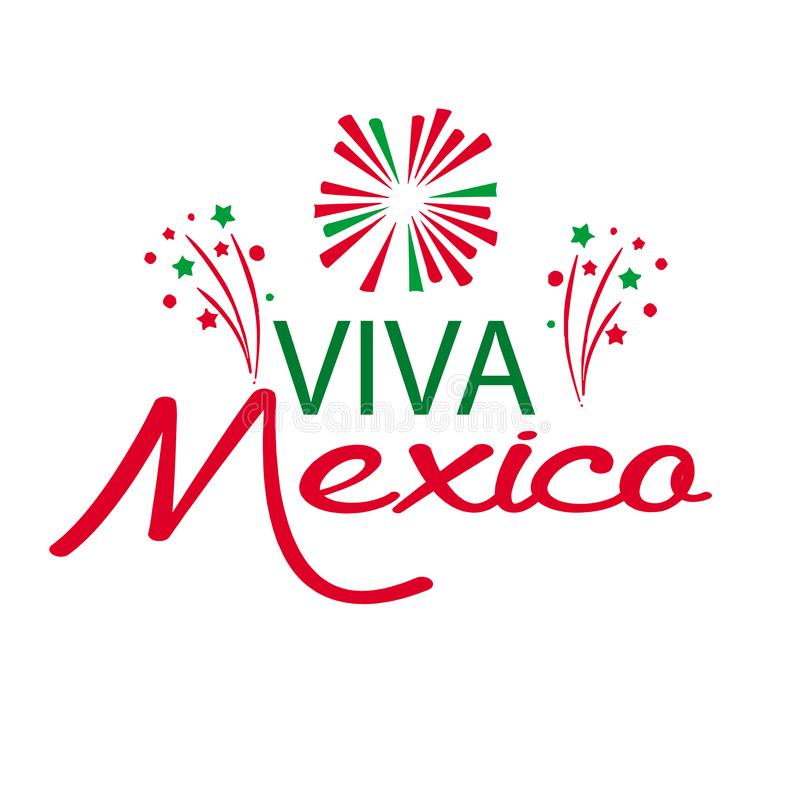 Viva Mexico, traditionele Mexicaanse uitdrukkingsvakantie stock illustratie