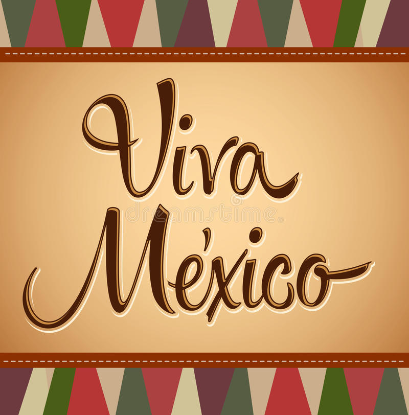 Viva Mexico - Uitstekend Mexicaans Deco stock illustratie