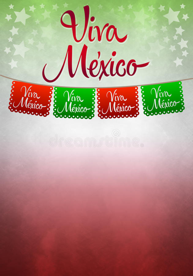 Viva Mexiko affisch - pappers- garnering för mexikan royaltyfria foton