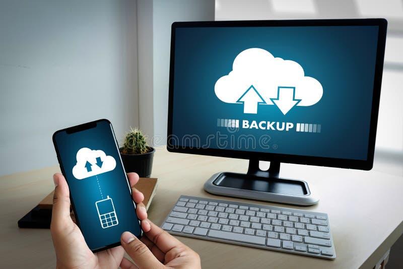 VIVA SCORRENDO il download di sostegno che computa il transferri di dati di Digital immagini stock libere da diritti