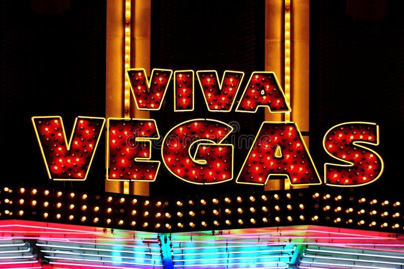 Viva Vegas illuminated sign royalty free stock images