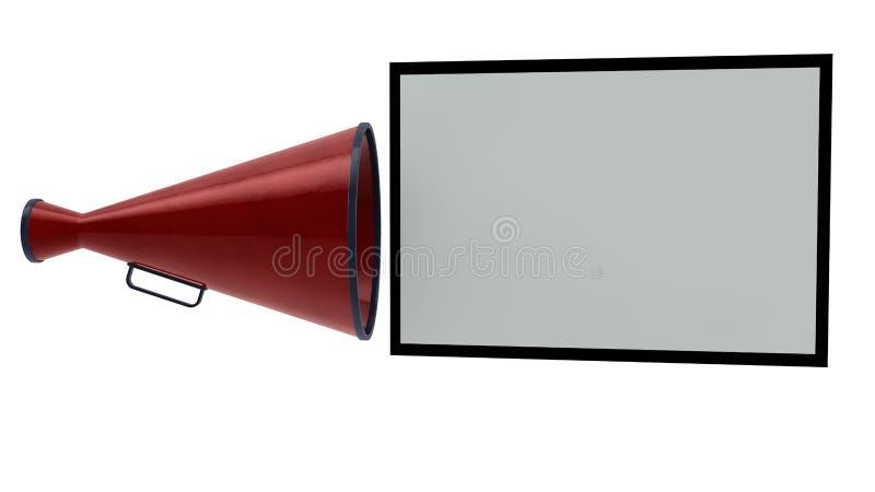 Viva voce e cartello illustrazione di stock