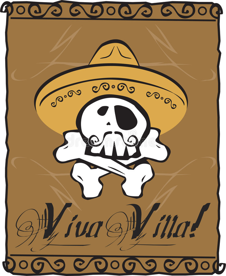 viva willi czaszki royalty ilustracja