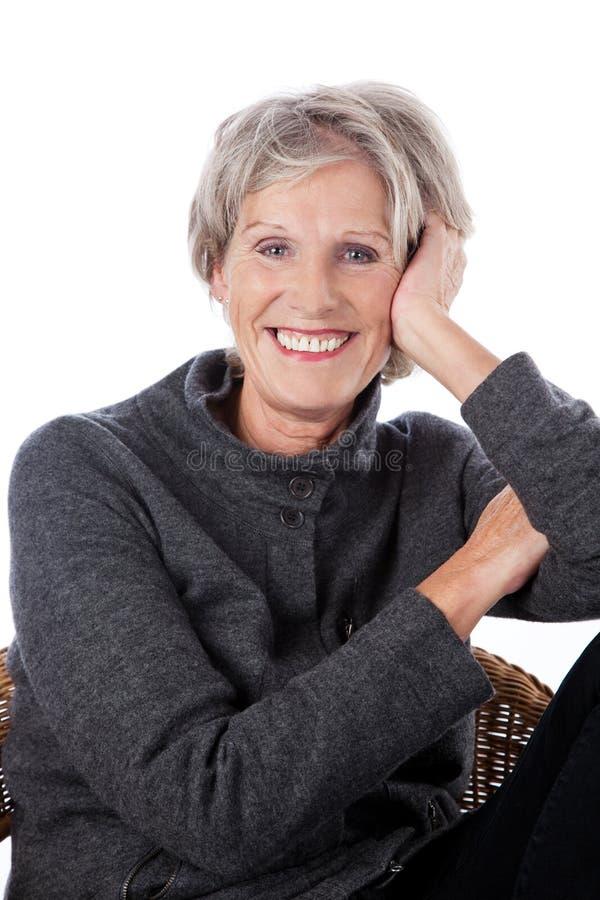 Vivacious более старая женщина стоковая фотография rf