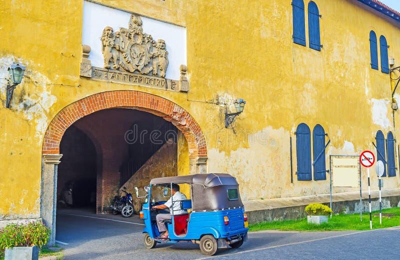 Vivant le fort de Galle image stock