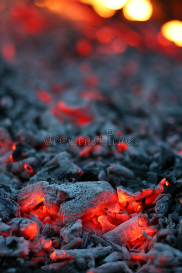 Vive il carbone fotografie stock