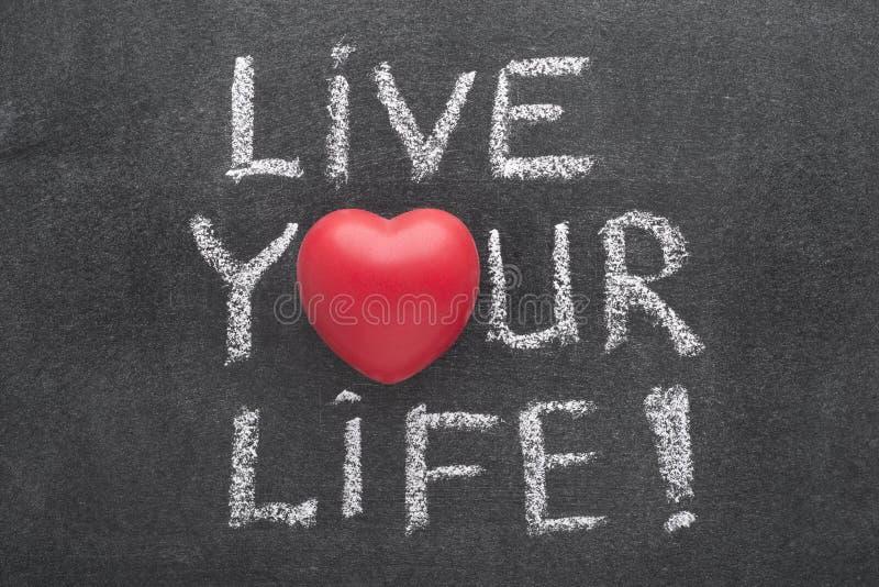 Vive il vostro cuore di vita immagini stock libere da diritti
