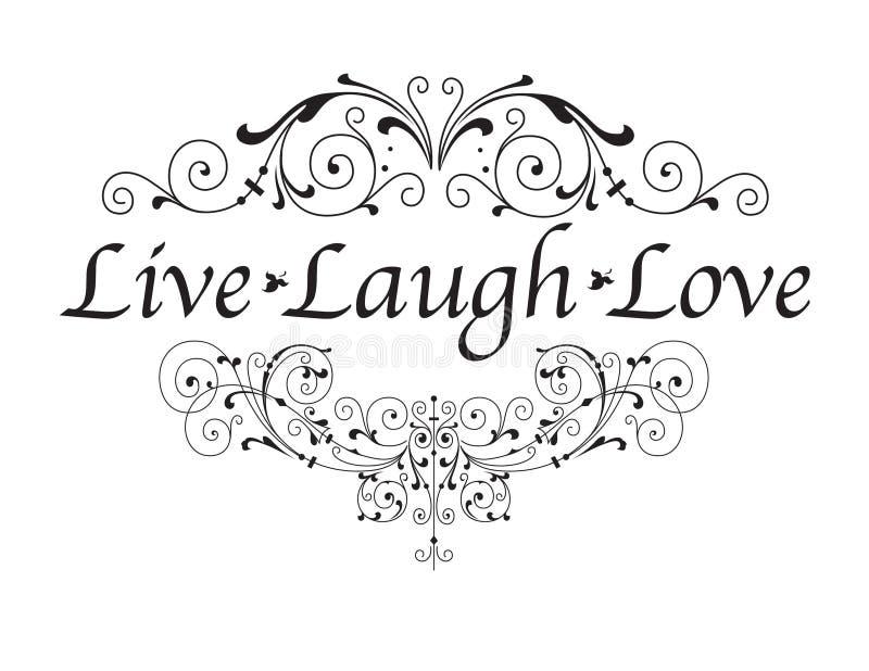 Vive o amor do riso ilustração do vetor