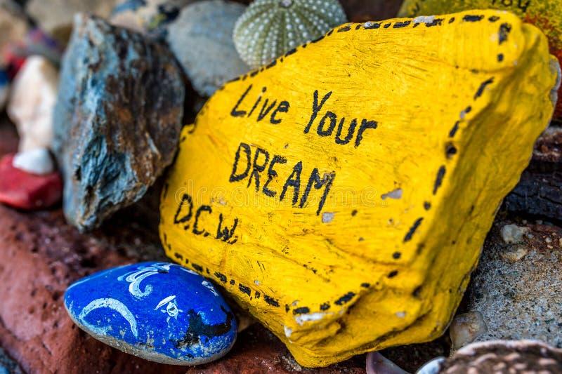 Vive su sueño imágenes de archivo libres de regalías